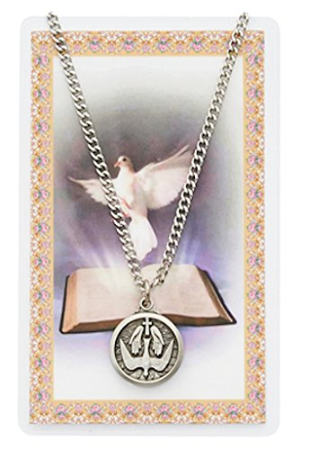 Adult Holy Spirit Pewter Medal Necklace, 24