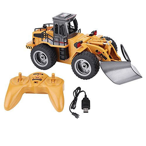 RC Engineering Truck, 1/18 2.4G 6CH Remote Control Vehicles Snow Sweeper Machine Toy with USB Cable for Children Kids Gifts (Remote Control Snow Toy)