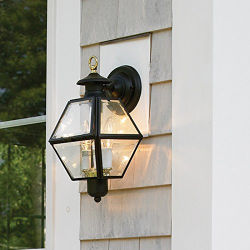 - NORWELL 1063-BL-BE Olde Colony Wall Fixture Lamp, Black Finish