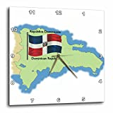 Cheap 3dRose Map and Flag of The Dominican Republic with Dominican Republic in Both English and Spanish – Wall Clock, 13 by 13-Inch (dpp_46646_2)