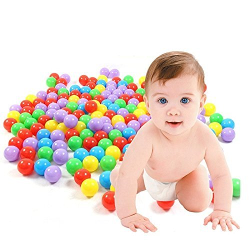 100 Multi Coloured Play Balls Kids Portable Pit Ball Pool outdoor indoor Baby Tent Play hut Toy MiYan