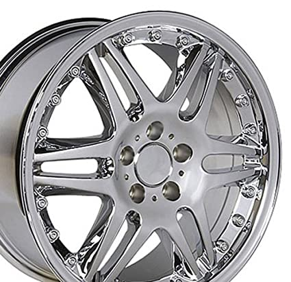 18x9 5 Wheel Fits Mercedes Benz Ces Class Slk Clk Cls Et38 Split Spoke Chrome Rim