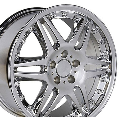 18x9.5 Wheel Fits Mercedes Benz C E S Class SLK CLK CLS - ET38 Split Spoke Chrome Rim (Wheels Split Alloy Rim)