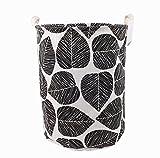 Songsongstore Large Foldable Laundry Hamper Bag Storage Bin Leaf Black Deal