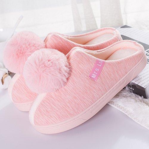 indoor 37 di rosa cotone 39 Home anti Il Home piedi eleganti femmina pantofole slip con sulla pantofole pantofole sfera paio uomini 35 pacchetto inverno caldo 38 stelle FYYgpWqn
