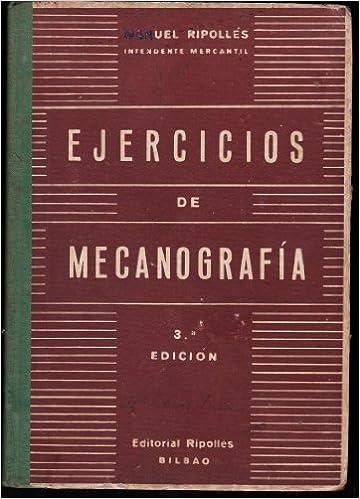 Metodo Practico Maquina de Escribir al Tacto: Amazon.es: MANUEL RIPOLLÉS, RIPOLLÉS: Libros