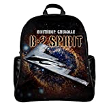 Personalized Backpack Schoolbag Print USAF USAF B2 Bomber for Military Fans