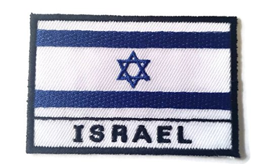 Israel Flag Embroidered Patch Iron-On National - Test Eye York