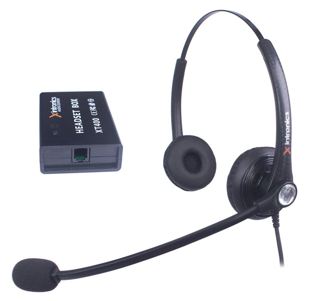 Micr/ófono con Cancelaci/ón de Ruido Xintronics Auriculares Tel/éfono Fijo Mono Universal Compatible con Mayor/ía Tel/éfonos Fijos Cascos RJ9 con Bot/ón de Respuesta XT400 Control de Volumen