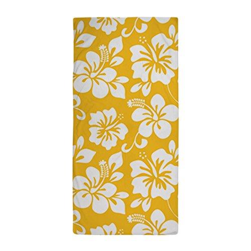 CafePress Yellow Hawaiian Hibiscus Large Beach Towel, Soft 30