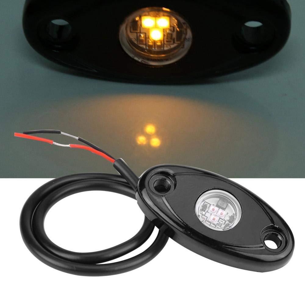 blue LED Rock Light Kits,Acouto12-24V Flood Beam LED Light Off Road Truck Car ATV SUV Under Body Glow Light Lamp Trail Fender Lighting