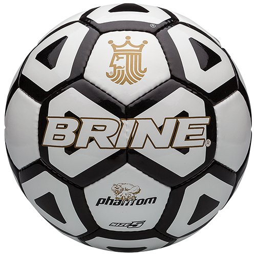 - Brine Phantom Soccer Ball, Black, Size 5