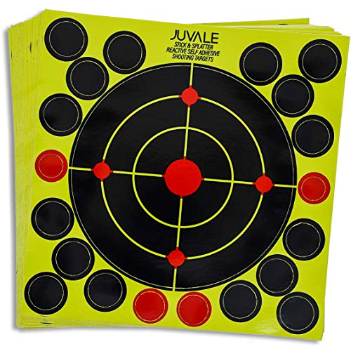 (Juvale 100-Pack Splatter Burst Reactive Shooting Self Adhesive Targets with Cover Up Patches, 8 x 8 Inches)