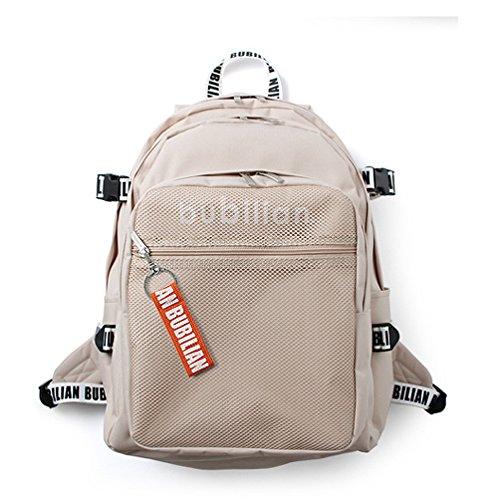 Bubilian BTBB 3D Backpack / Korean Street Brand / School Bag / Travel Bag (Beige (orange))