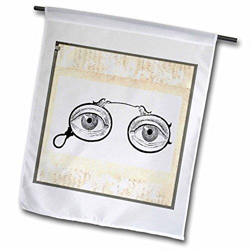 Florene Steam Punk - Eyeglasses - 18 x 27 inch Garden Flag - Eyeglasses Punk