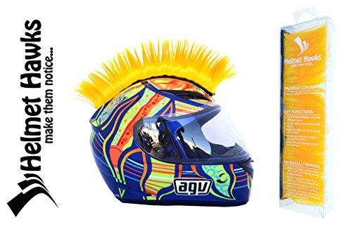 Helmet Hawks Motorcycle Helmet Mohawk w/ Sticky Velcro Adhesive - Golden Yellow