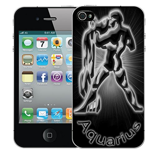 Mobile Case Mate iPhone 5 Silicone Coque couverture case cover Pare-chocs + STYLET - Black Aquarius pattern (SILICON)