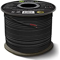 14 AWG CL3 OFC Outdoor Speaker Wire, GearIT Pro Series 14 Gauge (100 Feet / 30.48 Meters / Black) Oxygen Free Copper UL CL3 Rated for Outdoor Direct Burial and In-Wall Installation Speaker Cable