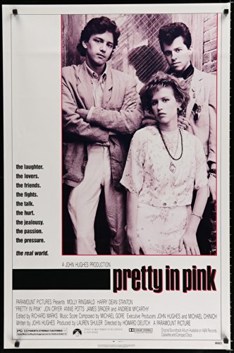 Pretty In Pink 1sh'86portrait of Molly Ringwald,Andrew McCarthy,Jon Cryer