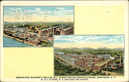 Mohawk Carpet Mills, Inc. Amsterdam, New York Original Vintage Postcard ()