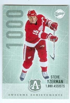 Steve Yzerman hockey card (Detroit Red Wings Hall of Famer) 2002 Upper Deck Vintage #295