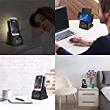 dpnao Alarm Clock with Wireless Charging Dock Stand
