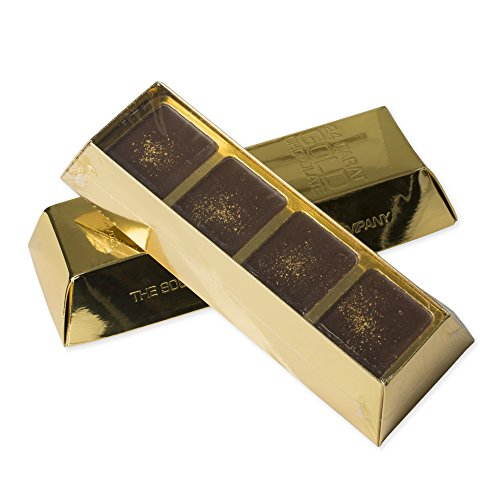 South Bend Chocolate Company 24 Carat Gold 6 Ounce Chocolate Bar and Gift Box