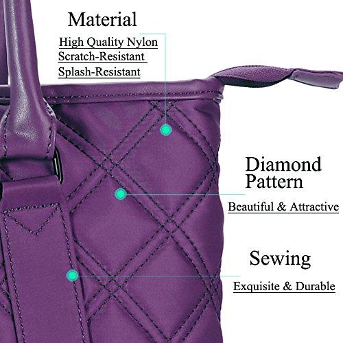 Laptop Tasche, DTBG 39,6cm Nylon klassische Diamanten Muster Travel Business Computer Schultertasche, der Aktentasche Handtasche für 38,1