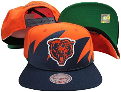 Chicago Bears Mitchell & Ness Snapback Adjustable Plastic Snap Back Hat / Cap
