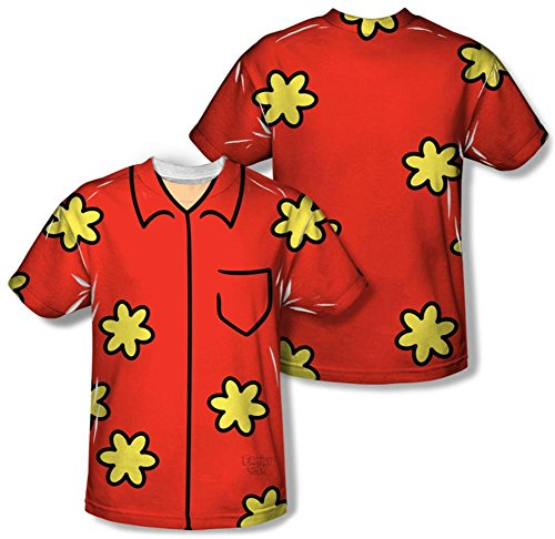 Family Guy Quagmire Costumes Tshirt (Family Guy - Quagmire Costume Tee (Front/Back Print) T-Shirt Size M)
