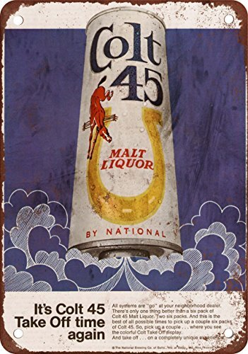 1969-colt-45-malt-liquor-and-moon-rockets-vintage-look-reproduction-metal-signs-12x16-inches