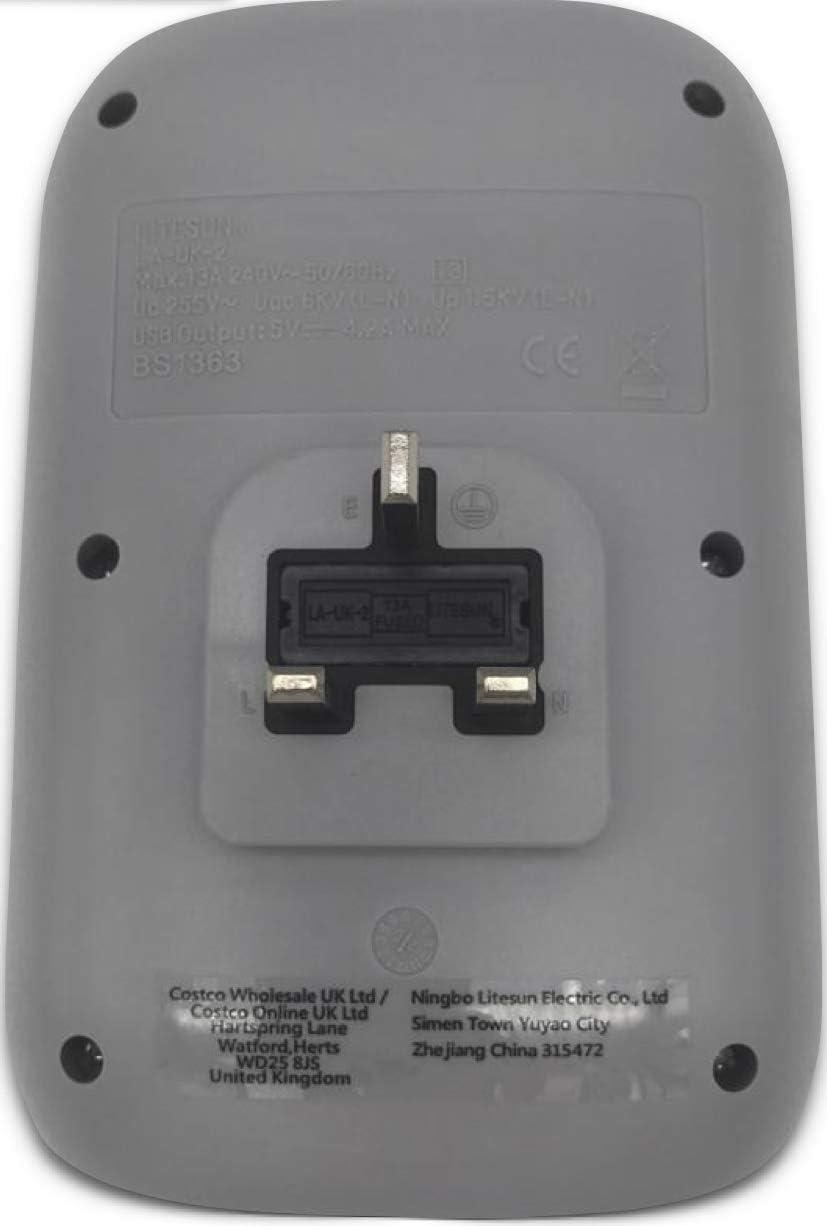 Charging Essentials Twin Socket Adaptors with 4X USB Chargers 240 V