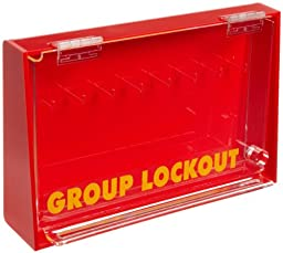 Brady Acrylic Plastic Wall-Mount Group Lock Box for Lockout/Tagout, Large, 7-1/2\