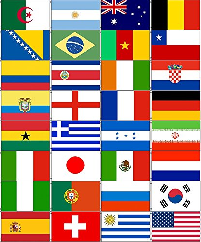Wholesale Combo Set World Cup 32 Country National 3x5 3'x5