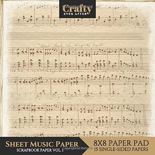 Sheet Music Paper Scrapbook