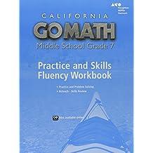 Go Math! California: Practice Fluency Workbook Grade 7