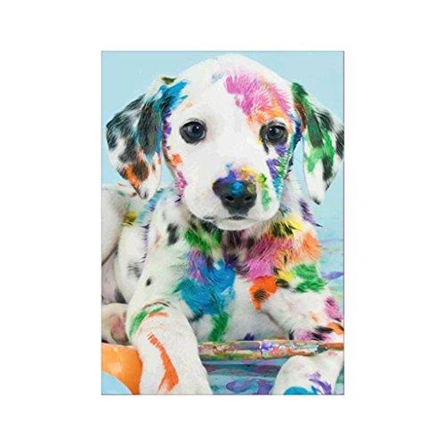 Xumeili Dog Puppy 5D Diamond Painting DIY Embroidery Cross Stitch Kit Office Home Decor