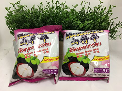 Food Kng Vacuum Freeze-dried Mangosteen Fruit Snack Mangosteen 20g (Pack of 4)