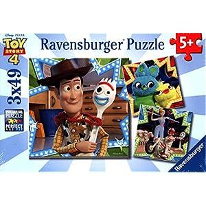 Ravensburger 08067 Disney Pixar Toy Story 4-3 X 49 Piece Jigsaw Puzzles – Vakue Set of 3 Puzzles in a Box