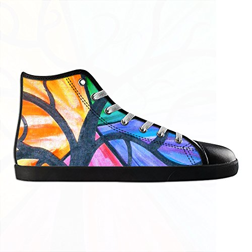 Custom paisley Mens Canvas shoes Schuhe Lace-up High-top Sneakers Segeltuchschuhe Leinwand-Schuh-Turnschuhe E