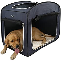 """Petsfit Portable Pop Open Pet Crate Kennel Cage for Dogs Cats, Foldable Lightweight Cat Play Cube, with Removable Fleece Mat, 31"""" L X 20"""" W X 25"""" H"""