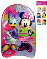 """Minnie Mouse Kickboard (17""""x10"""") and Disney Princess Stickers (3""""x6"""" - 4 Sheets - $3.99 Value) - Two (2) Disney Toys for Girls - Stickers feature Ariel, Snow White, Belle, Jasmine, Cinderella and Little Mermaid from UltimateGifts"""
