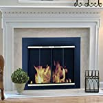 Pleasant Hearth AR-1020 Arrington Fireplace Glass Door, Black by GHP Group -- Drop Ship Only