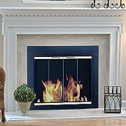 Pleasant Hearth AR-1020 Arrington Fireplace Glass Door, Black