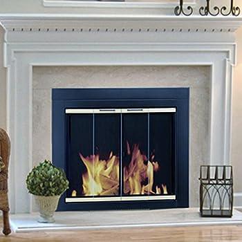 Amazon Com Pleasant Hearth Arrington Fireplace Screen And