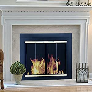 Amazon Com Pleasant Hearth Arrington Fireplace Screen And