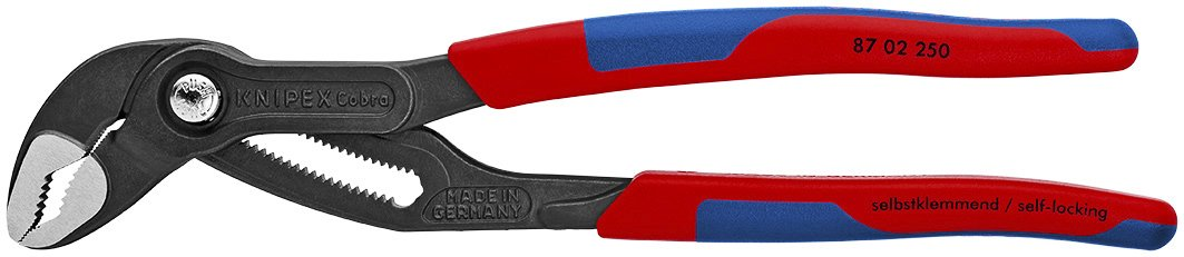 Knipex 8702250 10-Inch Cobra Pliers - Comfort Grip by KNIPEX Tools