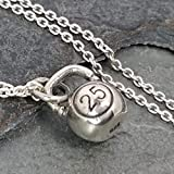 Teeny Tiny Kettle Bell Necklace - 925 Sterling Silver