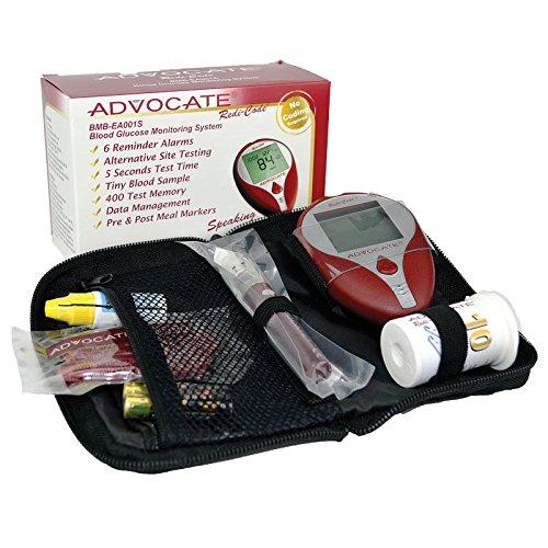Advocate Redi-Code Plus Speaking BG Meter Kit, Case of 50