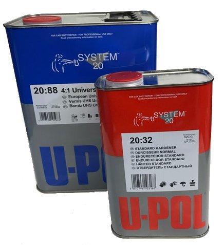 U-Pol 2882 2K Universal Urethane Clear 4:1 Standard Kit with Hardener